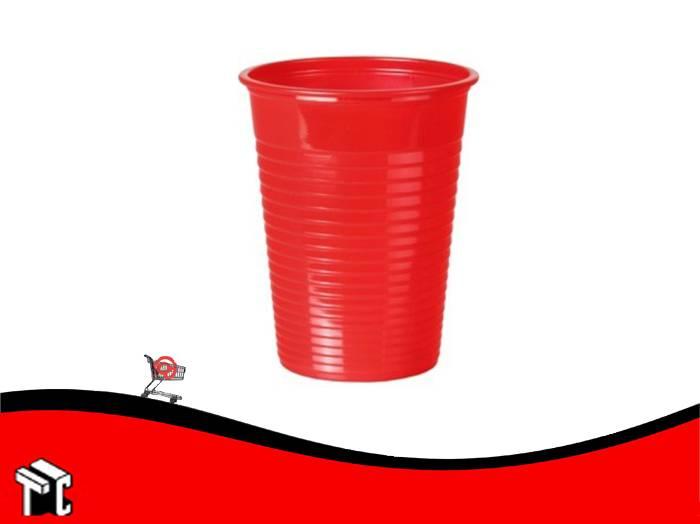 Vaso Plástico 180 Cm3 Rojo × 100 Unidades