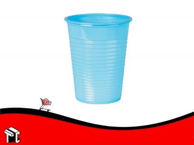 Vaso Plástico 180 Cm3 Celeste × 100 Unidades