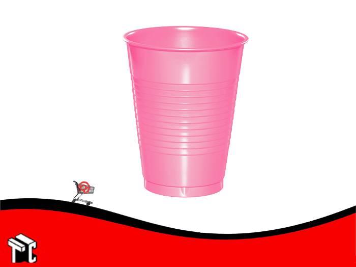 Vaso Plástico 180 Cm3 Rosa × 100 Unidades