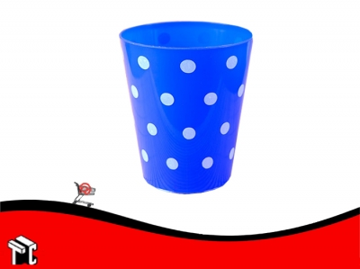 Vaso Conico 180 Cc Pp Lunares Blancos Azul X 15 Ud