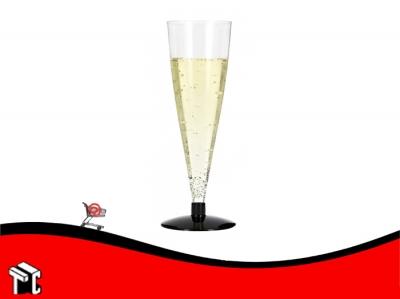 Copa Plastico Champagne Cristal X Unidad