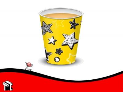 Vaso Polipapel 08 Oz Amarillo Stars X 50 Unidades
