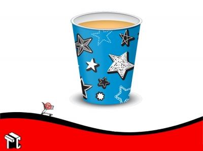 Vaso Polipapel 08 Oz Celeste Stars X 50 Unidades