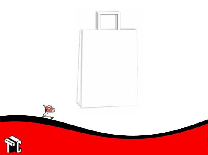 Bolsa De Papel Blanca 14 X 08 X 20 Cm