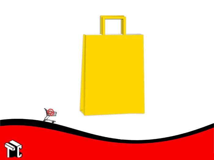 Bolsa De Papel Amarilla 14 X 08 X 20