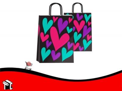 Bolsa De Papel Amor A Color 22 X 10 X 30