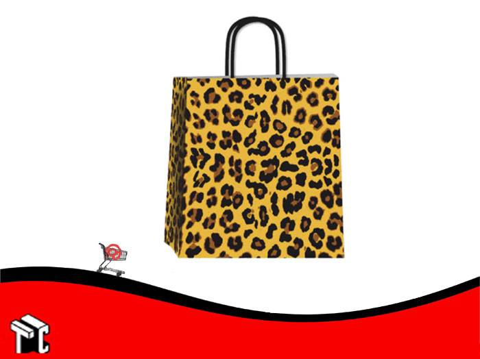 Bolsa De Papel Animal Print 32 X 10 X 30
