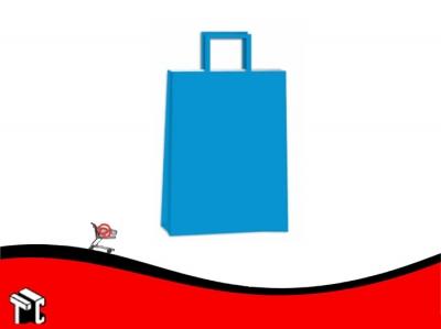 Bolsa De Papel Azul 22 X 10 X 30