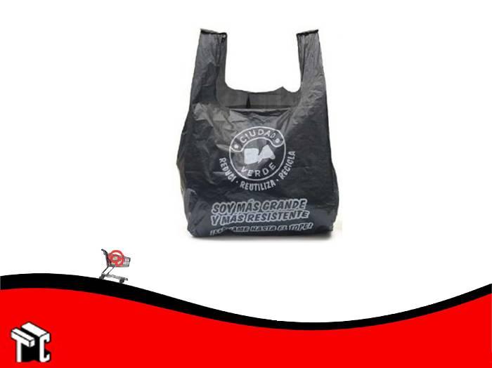 Bolsa Camiseta A/dens 45x55cm Ciudad Negro X 100 Uds.