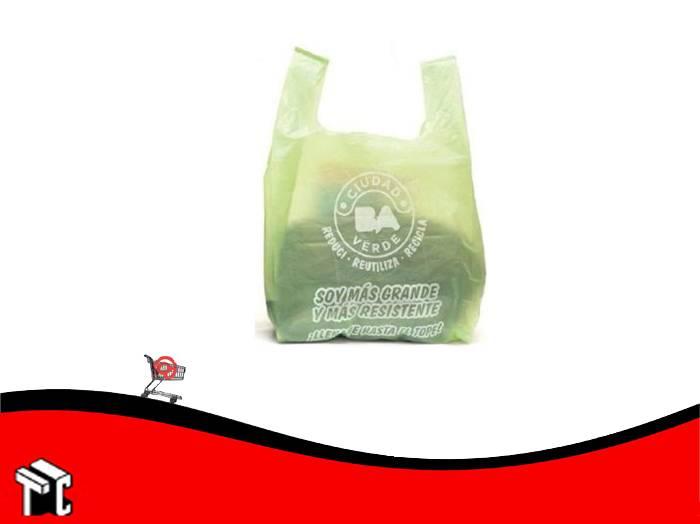Bolsa Camiseta A/dens. 45x55cm Ciudad Verde Oferta X1000