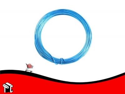 Alambre Aluminio X 6 Unidades Azul