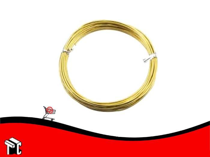 Alambre Aluminio X 6 Unidades Oro