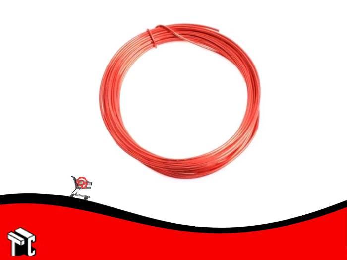 Alambre Aluminio X 6 Unidades Rojo