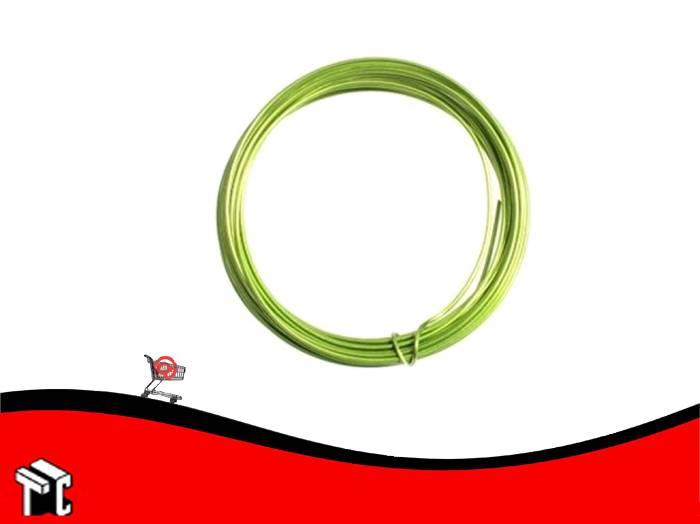 Alambre Aluminio X 6 Unidades Verde Claro