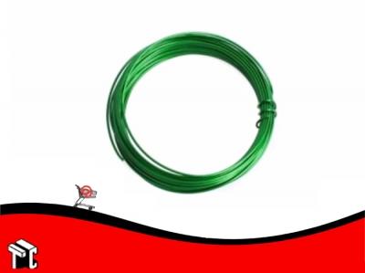 Alambre Forrado Verde X 8 M N.º 26