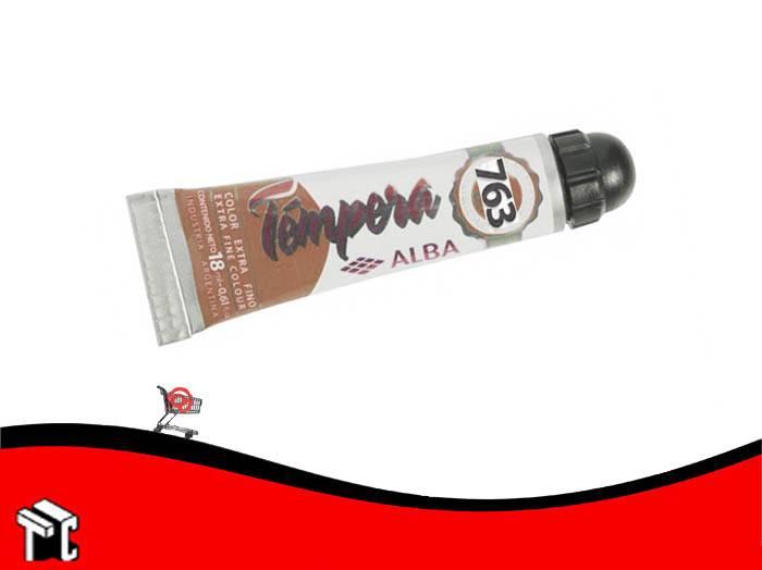 Tempera Profesional Alba 763 Tierra De Siena Natural X 18 Ml