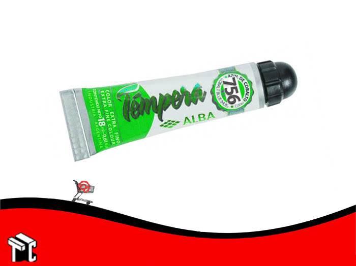 Tempera Profesional Alba 756 Verde Esmeralda X 18 Ml