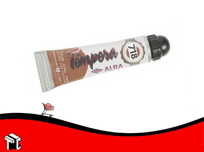 Tempera Profesional Alba 718 Marron X 18 Ml
