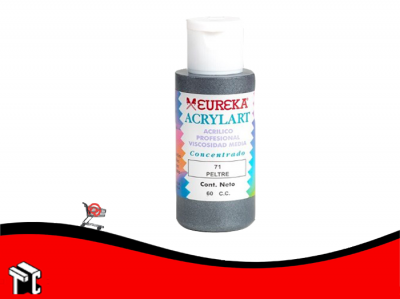 Pintura Decorativa Acrylart X60 Ml Peltre 71