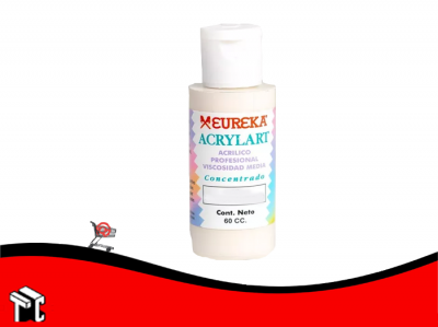 Pintura Decorativa Acrylart X60 Ml Blanco Perlado 63