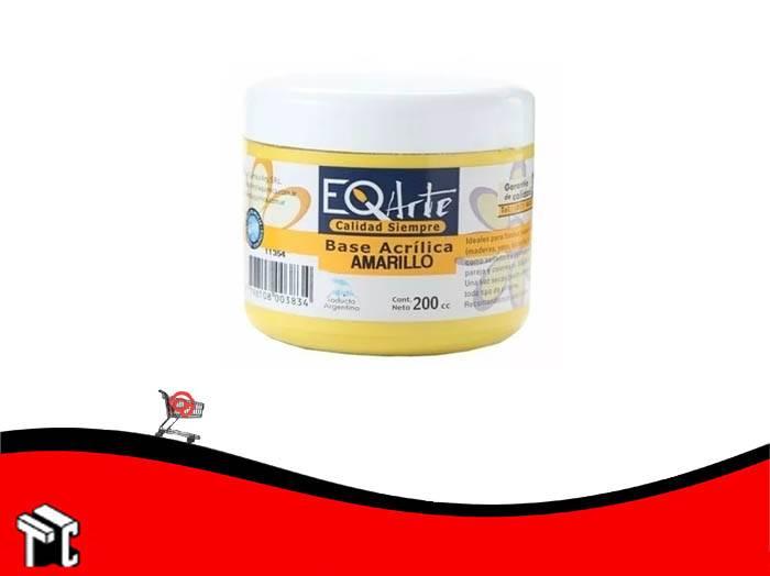 Base Acrilica Eq Amarillo Suave 200 Cc