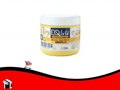 Base Acrilica Eq Amarillo 200 Cc