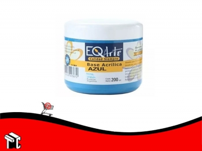Base Acrilica Eq Azul 200 Cc