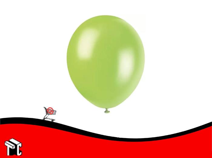 Globo Perlado Verde Manzana X 50 Unidades
