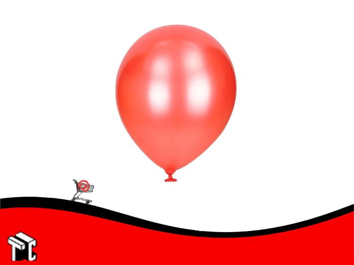 Globo Perlado Rojo X 50 Unidades