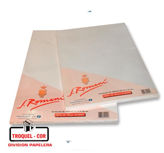 Resma Romani 106 G. A3 29.7 × 42 Cm. × 10 Hojas